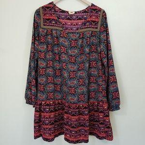 One Clothing Boho Tunic Top Ruffle Tier Dress
